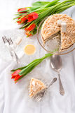 Cheese almond cake Royalty Free Stock Image