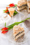 Cheese almond cake Royalty Free Stock Images