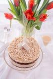 Cheese almond cake Royalty Free Stock Photo