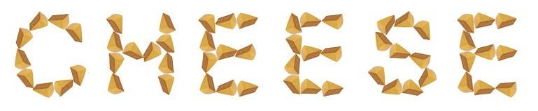 Cheese, alphabet Royalty Free Stock Photo