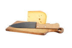 Cheese And Knife Stock Image