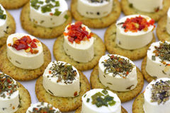 Cheese appetizer with biscuit Stock Image