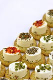 Cheese appetizer with biscuit Royalty Free Stock Photography
