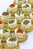 Cheese appetizer with biscuit Stock Images