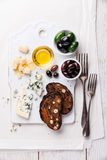 Cheese appetizer Royalty Free Stock Photos
