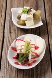 Cheese appetizers Royalty Free Stock Photos