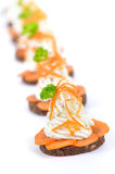 Cheese appetizers Royalty Free Stock Images