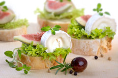 Cheese appetizers Stock Image