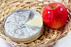 Cheese and Apple  Royalty Free Stock Photography
