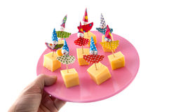 Cheese as party snack Royalty Free Stock Photos