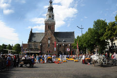 Cheese auction. On the market in Alkmaar, Netherlands. This traditional spectacle is every friday in summer in front of the cheese museum and you can always Stock Images