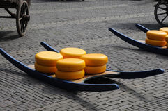 Cheese auction. On the market in Alkmaar, Netherlands Royalty Free Stock Photos