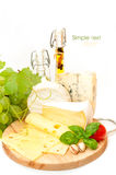 Cheese background Stock Photos