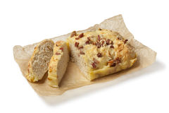 Cheese and bacon bread Royalty Free Stock Image