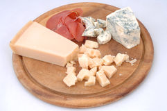 Cheese and bacon rustically Royalty Free Stock Photos