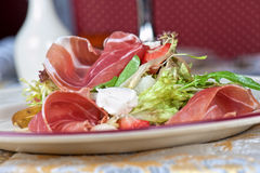 Cheese and bacon salad Royalty Free Stock Photography