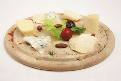Cheese, Badem stock images