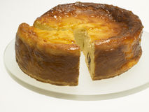 Cheese Baked Cake with apricot jam and raisins Stock Image