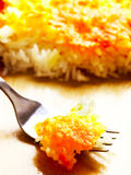 Cheese baked rice Stock Photo