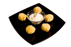 Cheese ball Stock Images