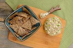 Cheese Ball as side dish on rustic table Stock Images