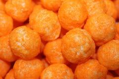 Cheese Ball Snacks. Macro of cheese ball Snacks Stock Image