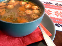 Cheese ball soup Royalty Free Stock Images