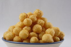 Cheese balls. Studio table top shot Royalty Free Stock Photo