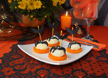 Cheese balls for Halloween Royalty Free Stock Photography