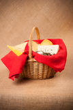 Cheese basket Royalty Free Stock Image