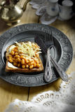 Cheese and Beans on Toast II Royalty Free Stock Photos