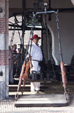 Cheese bearer in Weighing House, Alkmaar, Holland Royalty Free Stock Photo