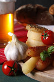 Cheese and beer Stock Images