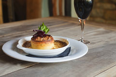 Cheese and beetroot tart Royalty Free Stock Photography