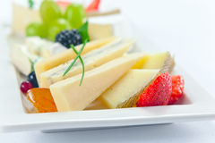 Cheese with berries Royalty Free Stock Image