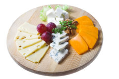 Cheese and berry Royalty Free Stock Image