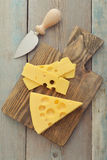 Cheese with big holes Stock Photography