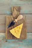 Cheese with big holes Royalty Free Stock Photos