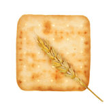 Cheese biscuit and wheat Royalty Free Stock Images