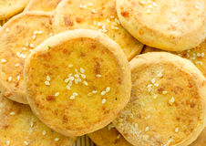 Cheese biscuits, mini pizza Stock Images