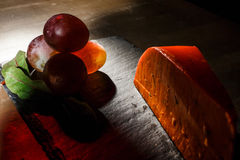 Cheese and black olives royalty free stock photography