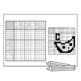Cheese.  Black and white japanese crossword with answer Stock Photo