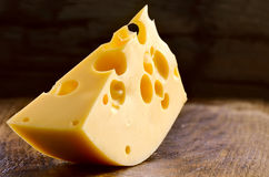 Cheese block Royalty Free Stock Images