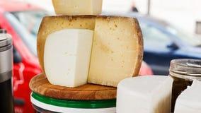 Cheese blocks Royalty Free Stock Photos