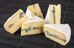 The cheese with a blue and a white mold Royalty Free Stock Photo