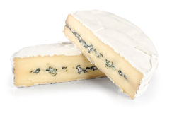 The cheese with a blue and a white mold Stock Photo
