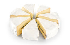 The cheese with a blue and a white mold Royalty Free Stock Photos