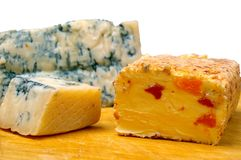 Cheese on board Royalty Free Stock Photos