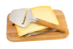 Cheese on a board Royalty Free Stock Image