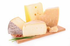 Cheese on board Stock Images